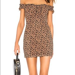 Leopard print mini dress (Revolve)
